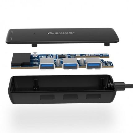 هاب و رم ریدر H3TS-U3 USB 3.0 ORICO