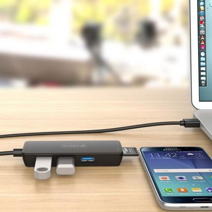 هاب و رم ریدر لپ تاپ H3TS-U3 USB 3.0 ORICO