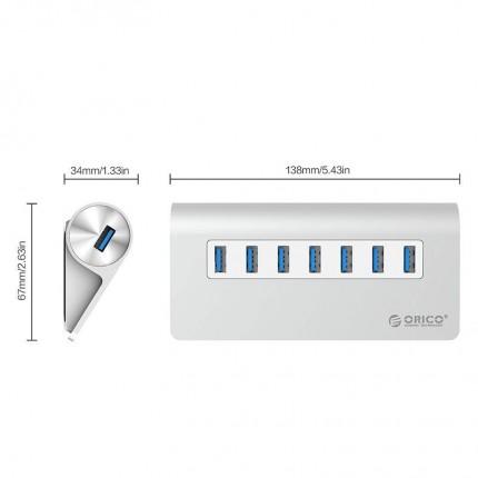 هاب 7 پورت آلومینیومی M3H7-V1 USB 3.0 ORICO