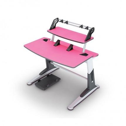 میز چند منظوره تحریر و کامپیوتر صورتی