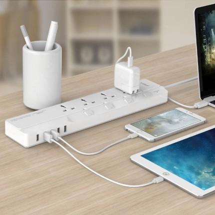 چند راهی برق USB دار اوریکو OSJ-4A5U-UN