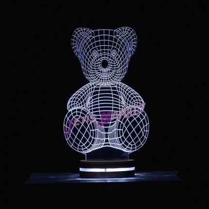 چراغ خواب سه بعدی خرس