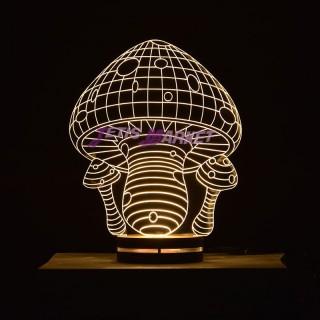 چراغ خواب سه بعدی قارچ