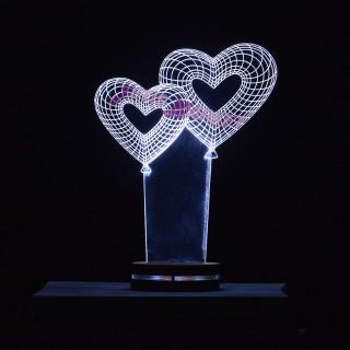 چراغ خواب سه بعدی قلب