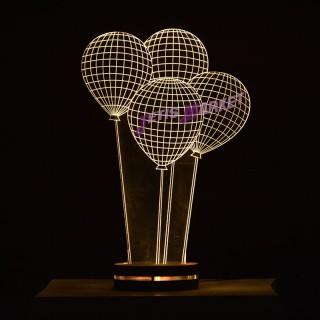 چراغ خواب سه بعدی بالون