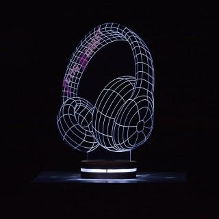 چراغ خواب 3D هدفون