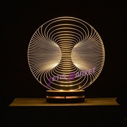 چراغ خواب سه بعدی گرد باد