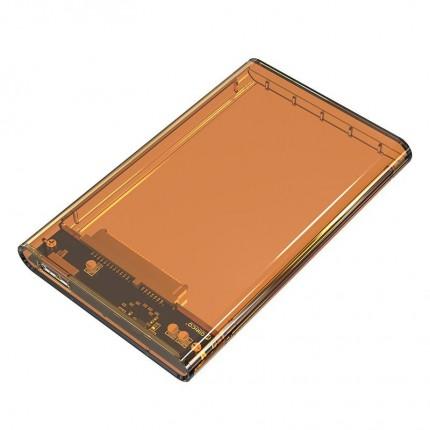 باکس شفاف 2.5 اینچی 2139U3 USB 3.0 نارنجی