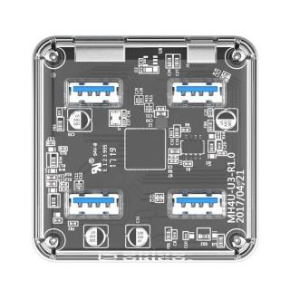 هاب USB 3.0 شفاف MH4U-U3 ORICO