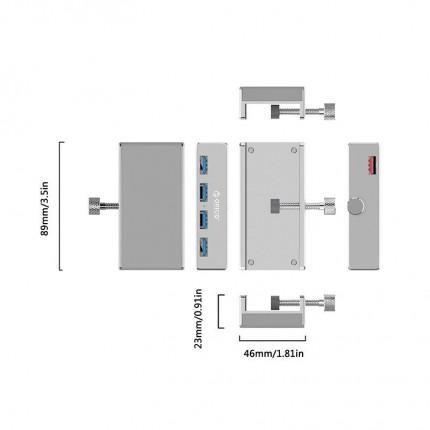 هاب گیره دار MH4PU USB 3.0 ORICO