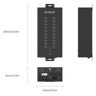 هاب 20 پورت صنعتی IH20P ORICO USB 2.0