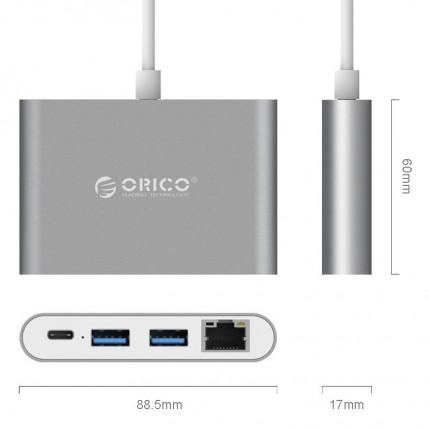 تبدیل چند کاره USB C RCR2A ORICO
