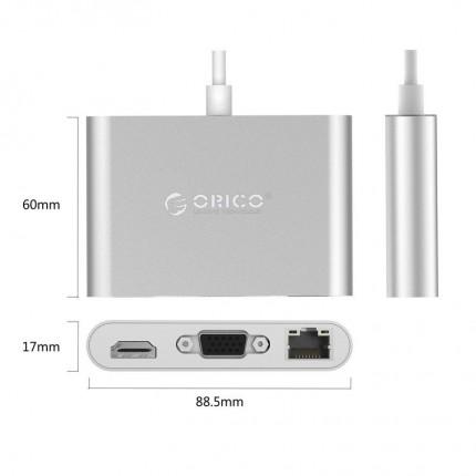 تبدیل چند کاره USB C RCNB LAN USB 3.0