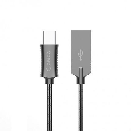 کابل شارژ سریع فلزی Type C HTS-10