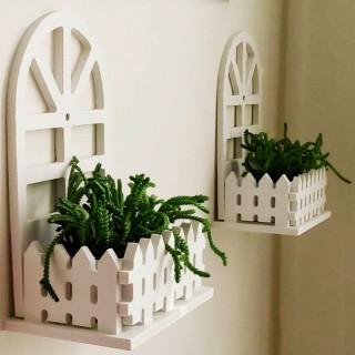 شلف دیواری باغچه