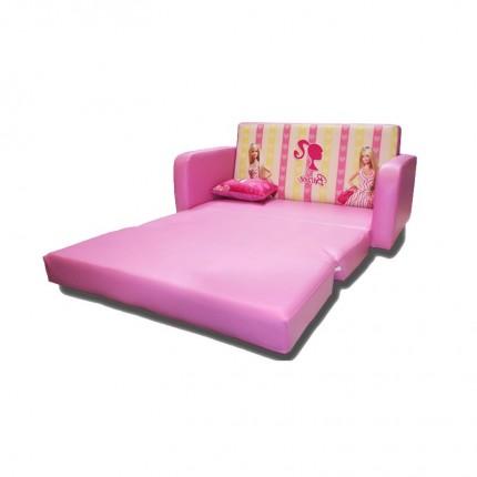 مبل تخت خواب شو کودک باربی صورتی