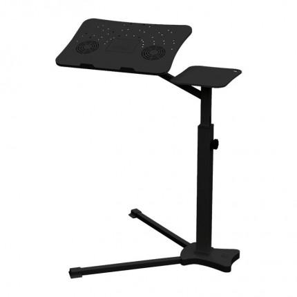 میز نگهدارنده لپ تاپ پایه بلند مشکی