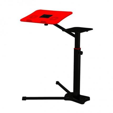 میز نگهدارنده لپ تاپ پایه بلند قرمز