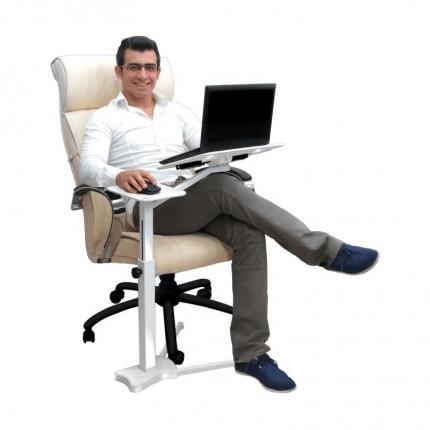 میز نگهدارنده لپ تاپ پایه بلند سفید