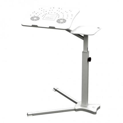 میز لپ تاپ حرفه ای کول پد فن دار سفید