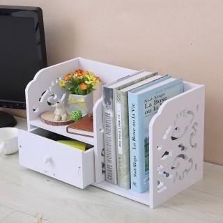 شلف قفسه کتاب رومیزی کشو دار