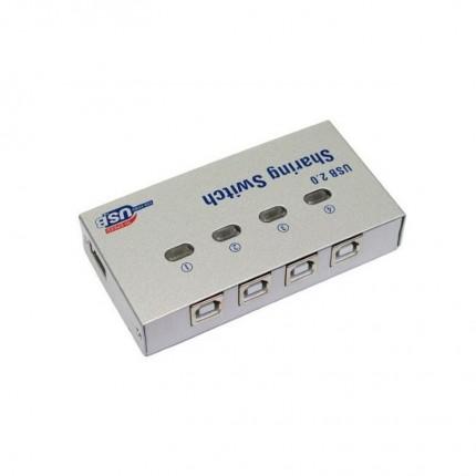 دیتا سوئیچ USB 2.0 اتوماتیک 4 پورت فلزی