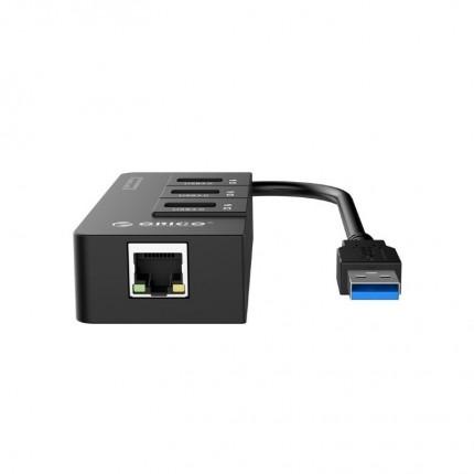 هاب و کارت شبکه HR01-U3 USB 3.0 ORICO
