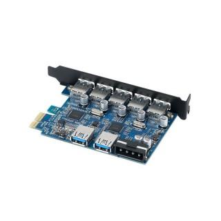چند شاخه برق و شارژر USB رومیزی ORICO HPC-8A5U