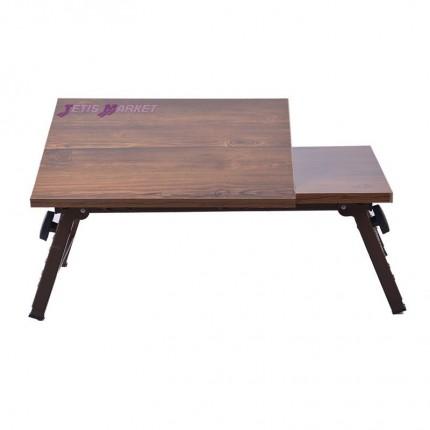 میز لپ تاپ تاشو چوبی بزرگ