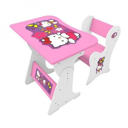 میز تحریر کودک کیتی صورتی