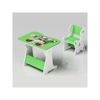 میز و صندلی کودک تحریر سبز بن تن