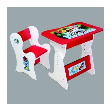 میز تحریر کودک قرمز انگری بردز