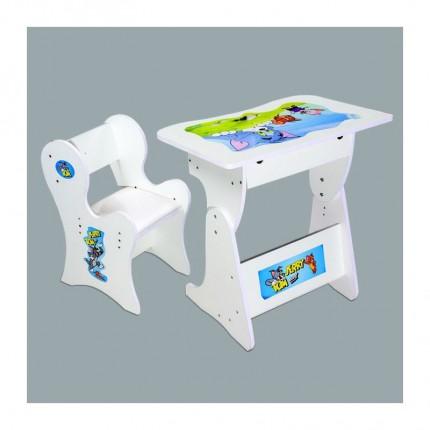 میز تحریر کودک سفید تام و جری