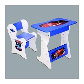 میز و صندلی کودک تحریر مک کویین آبی