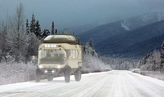 ماشین مسافرت زمستان