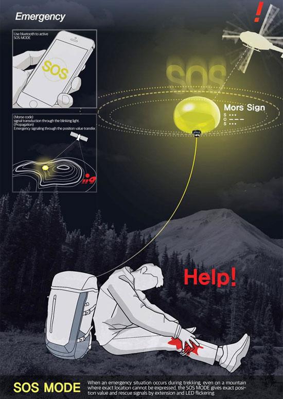 بالون کمک SOS کوهنوردی