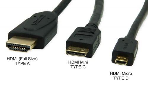 انواع رابط HDMI