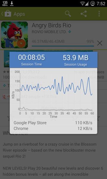 سرعت اینترنت گوشی اندروید
