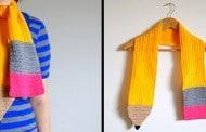 شال گردن بافتنی شکل مداد