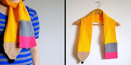 شال گردن مدادی