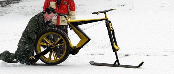 دوچرخه سواری برف