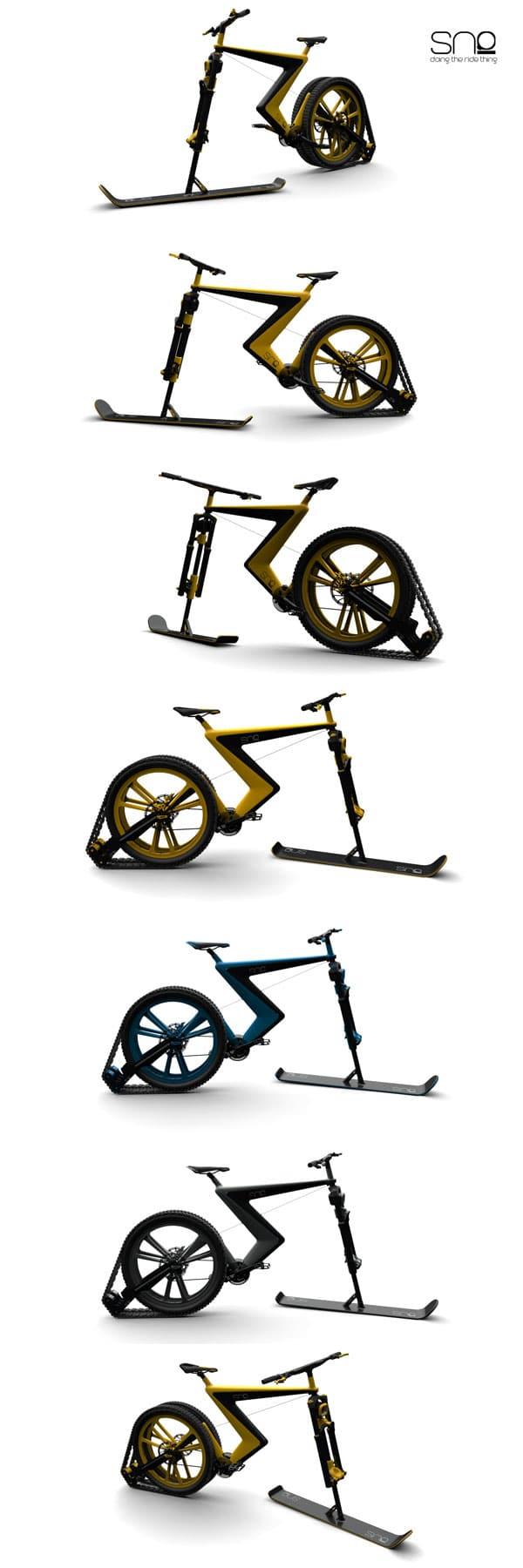 دوچرخه برفی
