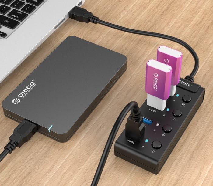 هاب USB بدون آداپتور