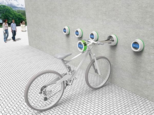 قفل دوچرخه دیواری