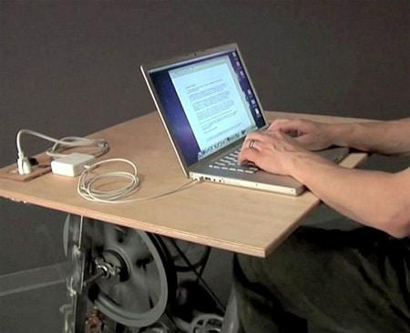 میز کامپیوتر تولید برق
