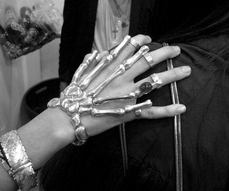دستبند نقره استخوان