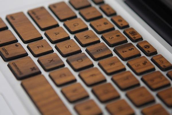 صفحه کلید چوبی