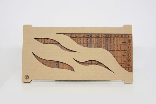 صفحه کلید چوبی مک بوک