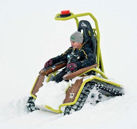 ویلچر برقی برف