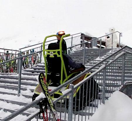 ویلچر برقی پله